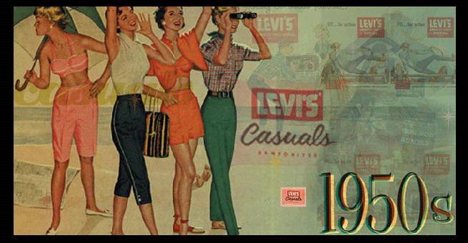 L'apparition du jeans chez les jeunes et femmes  - http://isgliaisonsdangereuses.unblog.fr/partie-2-analyse-de-la-publicite/